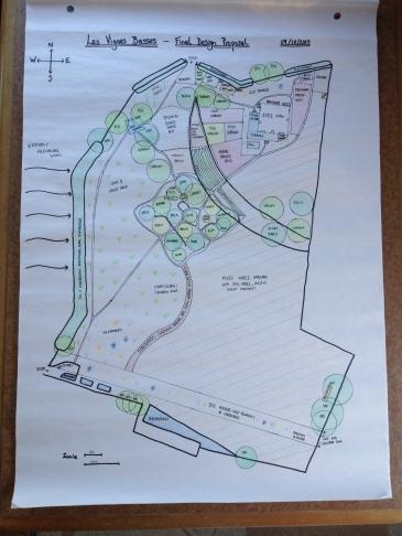 The final Permaculture design for Les Vignes Basses