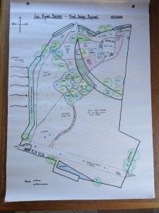 The final permaculture design plan for Les Vignes Basses