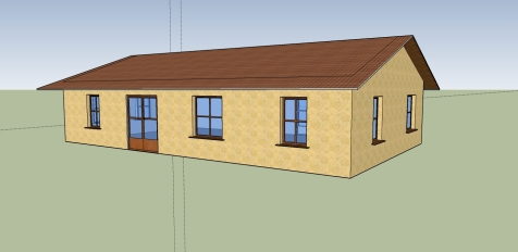 Accurate representation of the house from the front - south facing