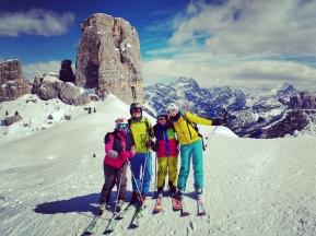 Epic ski day at Cinque Torri
