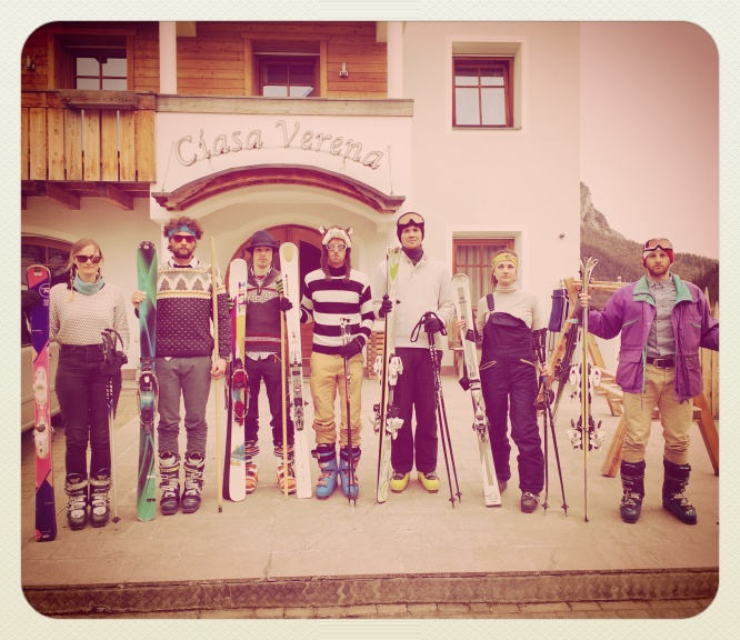 Vintage ski day - Collett's staff scrubbed up well :)