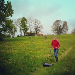 Mowing old skool