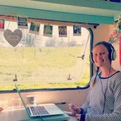 Teaching in the caravan!