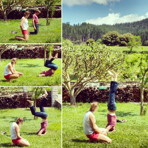 Learning how to do headstands