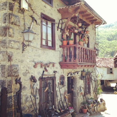 A traditional village house in the Picos