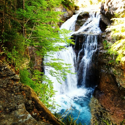 Stunning waterfalls through the canyon at Ordesa