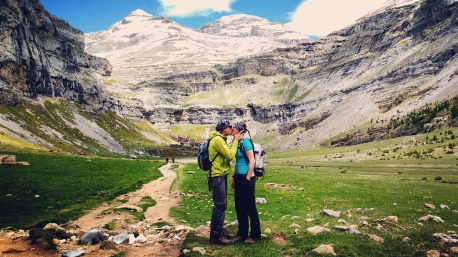 In love at the head of the Ordesa canyon