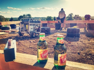 The building site always felt like this....no rushing, no dramas, sing alongs to Madonna and copious after-work beers. Happy days :D