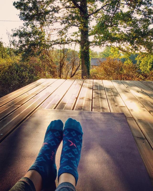 Sunset yoga :D