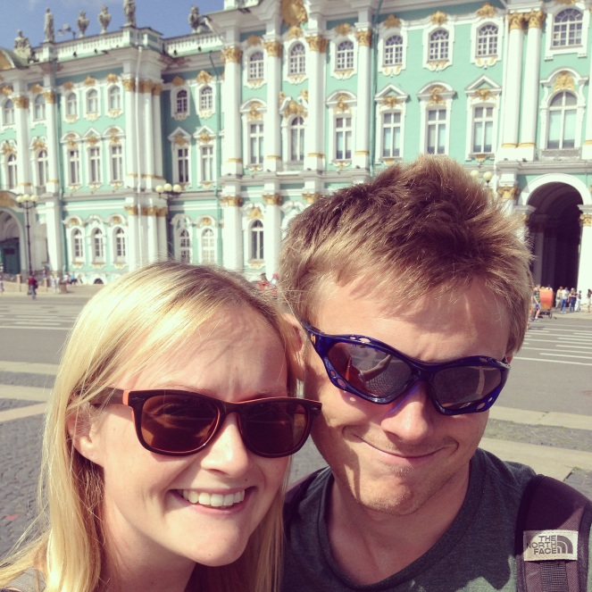 A spot of sightseeing atThe Hermitage in St. Petersburg