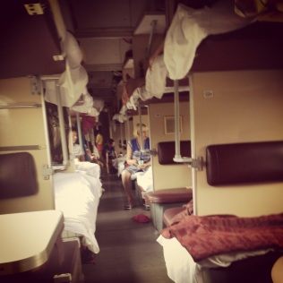 An so the epic journey begins....5 days on a 52 person carriage to Irkutsk