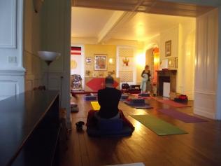 Preparing for morning Vinyasa Yoga