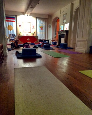 Post-Yin Yoga. Feeling restored :)