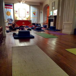 Post-Yin Yoga. Feeling restored :)