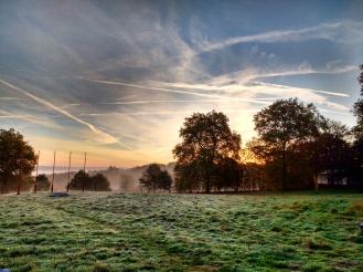 Sunrise over Denchen Chöling