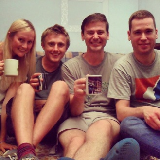 A lovely dinner in a truly soviet-era apartment with our friends and student in Moscow
