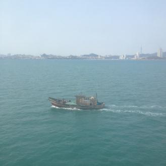 Coming into Qingdao port