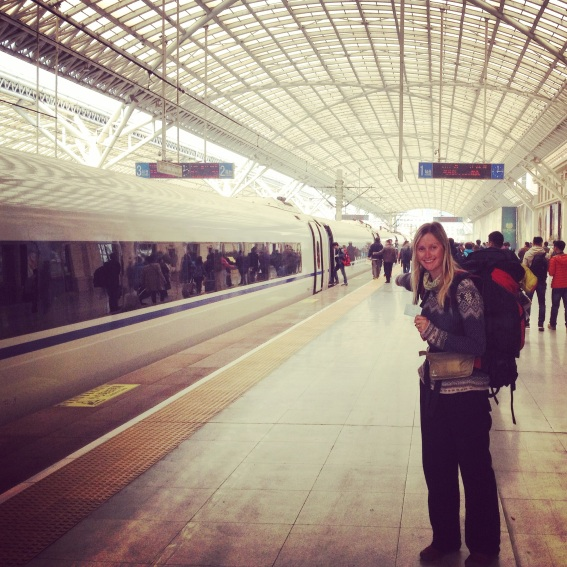 Excited to get back on the trains - the bullet train from Qingdao to Beijing, reaching top speeds of 300kms/ph
