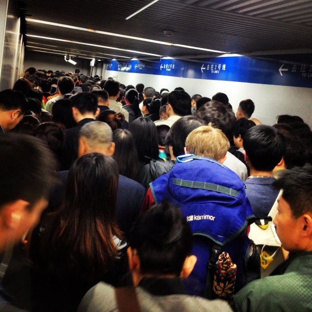 Where's Wally? Spot the westerner on the Beijing Metro