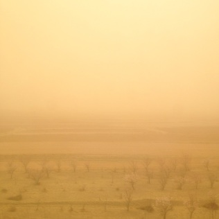Sandstorm in the Gobi desert