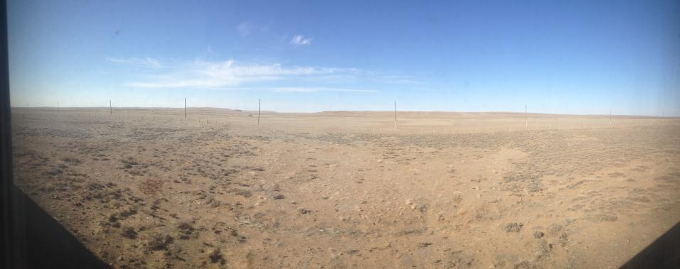 The vast emptiness of the Gobi desert
