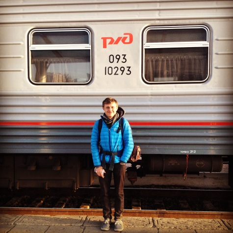 Familiar trains....ready to enter Russia