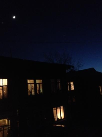 Starry night in Irkutsk
