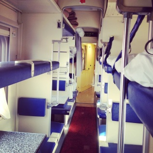 A modern 52-perons carriage from Omsk to Moscow