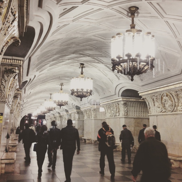 Beautiful metro stations in Moscow