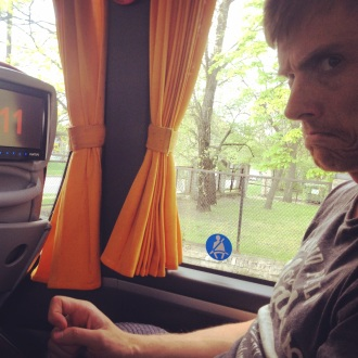 Not our favourite mode of transport - a coach trip to Warsaw from Riga