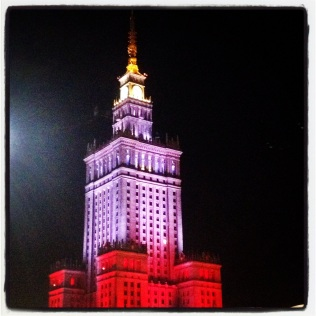 Warsaw at night time
