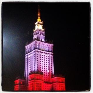 Warsaw at night time