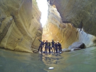 Canyoning in the Spanish Pyrenees