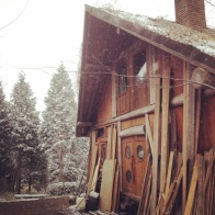 The other side of the log house