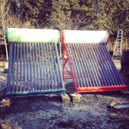Solar water heaters finished and in place