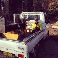 Taking the log splitter out for a spin....and the machine too :)