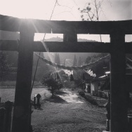 Sunset at the local shrine