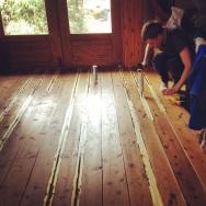 Sealing the floorboards