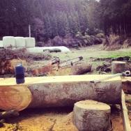 Cutting planks...