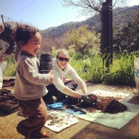 Sweet Sohei helping with the potting out