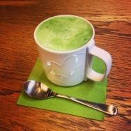 Matcha green tea latte....nom nom nom
