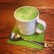 Matcha green tea latte....nom nom nom
