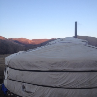 Our yurt for the night