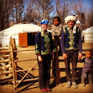 Happy Mongolian Families