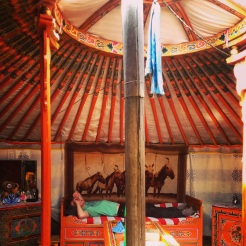 The interior of the 100+ year old yurt
