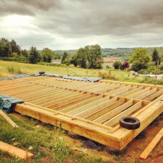 Floor joists all finished :)
