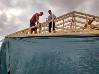 Fixing up the gable end trusses