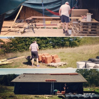 Further super help in the form of the parents Lee. Hauling tiles and painting fascias, their 'holiday' was particularly active.