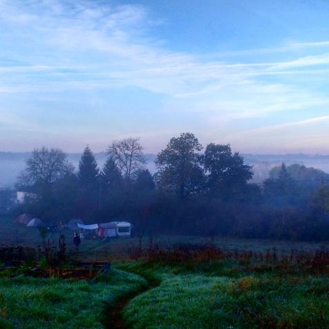 Crisp yet mild mornings