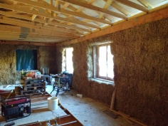 The view inside once the first two windows were in place